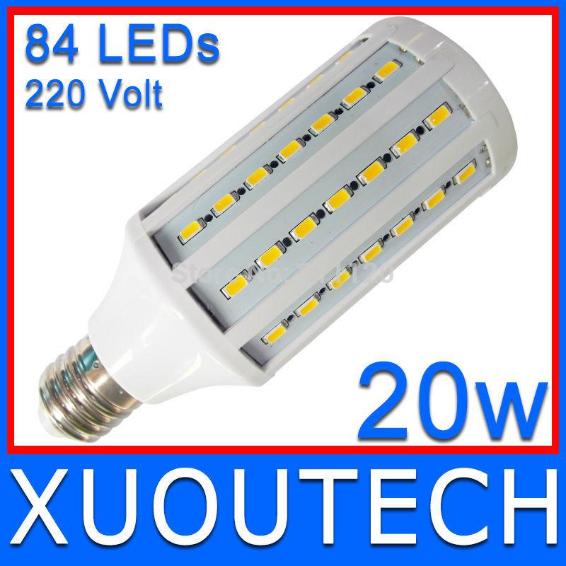 Equal To 200W Halogen Bulb 360 Degree Emitting Non-dark Space Super Bright LED Lamp 20W Light Bulb 220V E27 84pcs SMD5730 3000LM(China (Mainland))