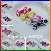 20colors Rainbow Hair MINI clips Ribbon Hair Bows Sculpture Hair Clippie fashion children accessory