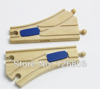 Christmas Gift 2 pcs Wooden Train Switch Track fit Thomas and Brio Wooden Train Educational Boy Toy / Kids,3041