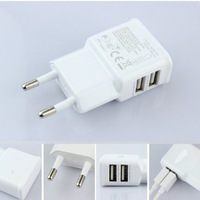 Dual USB 5V 2A Wall Charger Adapter USB Charger EU Plug Travel Power 2 USB Port for iPhone 5s for iPad Galaxy S3 S4 Note 3 N9000