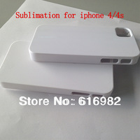 New arrival heat transfer 3d blank phone case for iphone 4/4s 100pcs/lot