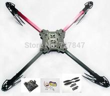X525 4-axis QuadCopter Glass Friber Folding Kit ARF KK Flight Board Multicopter(China (Mainland))