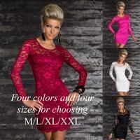2014 plus size bodycon dresses fashion women dress,woman retro vintage casual dress,spring summer long sleeve lace party dress