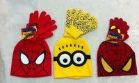 EuropeStyle   children     knitted  caps  kids winter   Spider-Man    hat