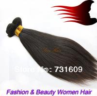 Low price 2pcs/pack 200g Free shipping straight human hair/brazilian virgin hair extension/fashionable hair