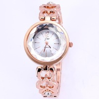 Top quality new women dress watches luxury famous brand JW round quartz rose gold plated bracelet hours for female dropship