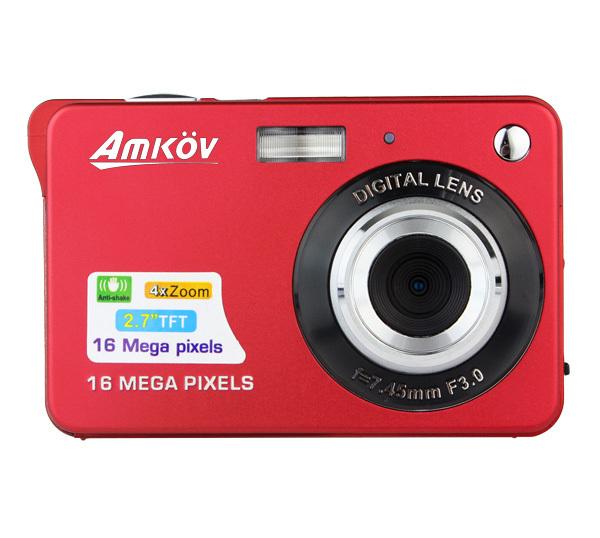 "HD Digital Camera 2.7"" TFT 4X Digital Zoom Smile Capture Anti-shake Video Camcorder Red /Black/Sliver E9010Z(China (Mainland))"