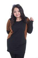 Long Batwing Sleeve T Shirt Fat Women Plus Size Blouse Fashion 2014 Female Large Big Size Clothing Loose Tops Skinny Hip