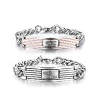 Lovers bracelet hand  titanium lovers bracelet a pair of bracelet