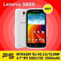 "4.7"" Original Lenovo S820 1G/4G 2/13MP IPS 1280*720 2000mAh Android 4.2 Quad Core Dual SIM Smart Phone Especially for Girls"