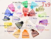 Free Shipping,Random Mix Colors Jewelry Packing Drawable Organza Bags 7x9cm,Wedding Gift Bags & Pouches,100pcs/lot