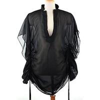 NEW 2013 beach dress black mesh sheer beach dress bikini cover up HOT sexy swimwear dresses new fashion 2013 summer Cover-Ups