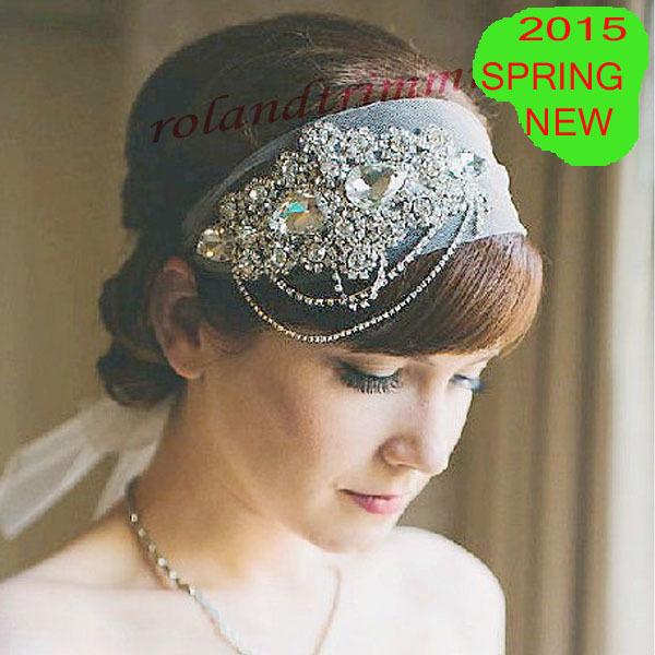 free shipping 2015 new bridal crystal rhinestones jewel headwear headband hairband crown tiara RA339c-hairband(China (Mainland))