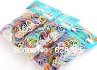 DIY Loom Kit Rubber Loom Bands Kit Refill Pack (600pcs Mixed Color Bands+24pcs S-clips+1pcs Hook) 300pack/lot FedEx Free