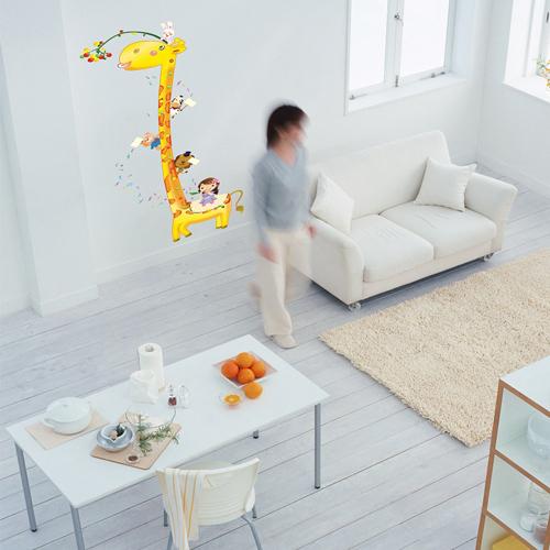 Little Monkey Murals Cartoon Giraffe Little Monkey