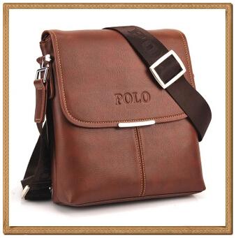Hot Fashion Men's POLO Faux Leather Messenger Bag Shoulder Satchel Briefcase Bag(China (Mainland))