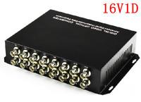 Brand 1pair 16 channel digital video/Audio/data fiber optic media converter, 16v1d, RS485, up 25KM, Anti-lightning!
