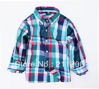 NEW Children's checked shirt Spring  Boys Designer Brand Shirts Kids Fashion Blouse Outwear  long sleeve shirt blouse