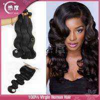 AAAAAA 3+1 peruvian lace closure with body wave human hair peruvian virgin hair with closure peruvian hair with closure
