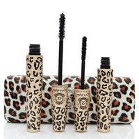 100% Guaranteed Love Alpha Eye Mascara Waterproof  leopard print Transplanting Gel Plus Natural  Fiber Mascara Set 4pcs=2sets