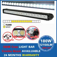 "30"" 180W CreeLED Work Light Bar Combo Beam Offroad 4x4 ATV Boat Lamp SUV LED Light Car LED Headlight"