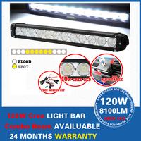 """20"""" CREE LED Light Bar 120W LED Work Light Offroad SUV ATV 4x4 Driving Light Combo Beam LED Light Car LED Headlight"""