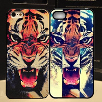 Min.order is $10 (mix order) New Arrival Tiger Roar Quote Hard Case Back Cover For iPhone 4 4s 5 5G 5S