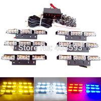 AMBER WHITE 6x9 54 LED Car Flash Strobe Light 3 Flashing Modes  Emergency police light