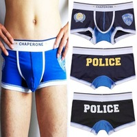 Free Shipping! World Police men's cotton underwear boxer shorts, Men's underwear, Mens shorts, 3 Colors C-202