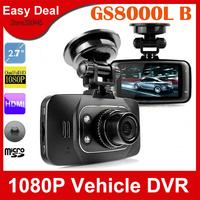 """GS8000L Car DVR 2.7"""" LCD 1080P HD Driving Recorder HDMI Night Vision Vehicle Black Box Free Shipping"""