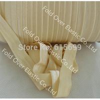 Solid Color Fold Over Elastic Ribbon-cream foe