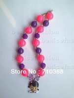 2013 hot selling lovely cute cartoon pandent chunky bubblegum statement necklace