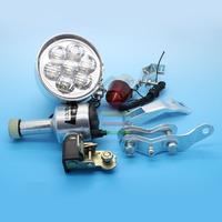 NEW Bicycle Light Bike Friction Power Generation Lamp 6V 3W Whole Set