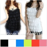 HK free shipping 2014 new high quality tops womens lace vests sleeveless shirt sexy tops t shirt women for summer with crystals