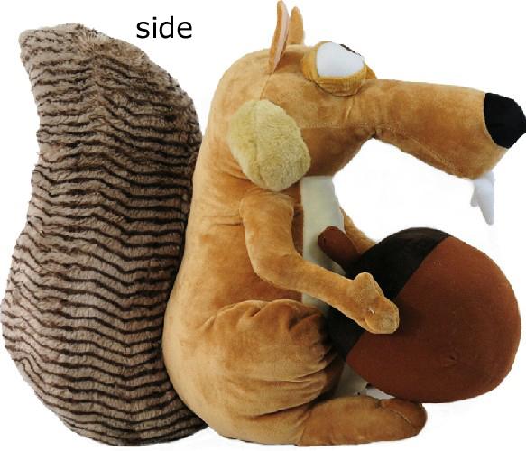 Kids Dolls Toys For Children Plush Movie Tv Stuffed Cartoon Animal Ice Age Squirrel Chocolate 17cm(6.8'') On Sale(China (Mainland))