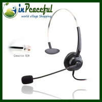 (2 pcs/lot) New Arrival Professional Call Center telephone monaural headset with RJ9/RJ11 plug