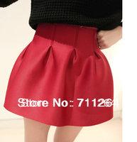 New Women Elegant Mini High Waist TUTU Bubble Short Party Bud Flared Skirt Dress