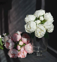 Real/Natural Touch PU Flowers Peony Buds Flowers Bridal/Wedding bouquets, 10 bouquets/ lot, can mix colors