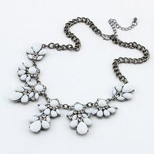 Yellow Shourouk Flower Crystal Gem Choker Collar Chain Statement Necklaces Pendants New Fashion Jewelry Women Wholesale