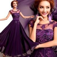purple Party Dress 2014 fashion vestidos de fiesta dresses new fashion 2013 woman party evening elegant long evening dress