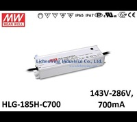 MeanWell 200W 700mA Constant Current LED Power Supply HLG-185H-C700 IP67 IP65 Waterproof Optional dimming LED power supplies