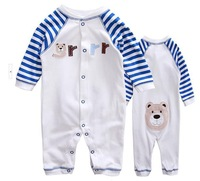 carters 2014 Baby long-sleeve romper spring and autumn thermal romper polar fleece fabric newborn clothes