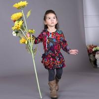 2014 Spring New Arrival Designer Flowers Tutu Dresses for Girls Brand Children's Dress Kids Clothing Best Quality Wholesale