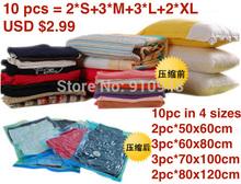 Envío gratis! 10 pc/montón 50*60cm vacío bolsa de almacenamiento, ahorro de espacio bolsas para la ropa y ropa de cama(China (Mainland))