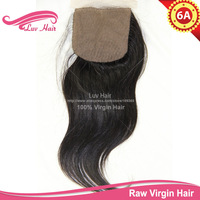 Unprocessed 100% human hair silk based brazilian closure silk closure straight free part silk base closure with baby hair