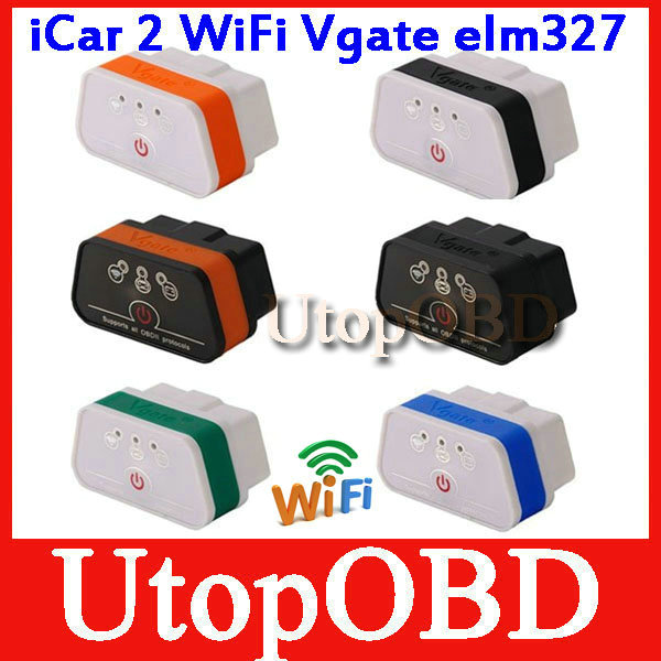 2014 Newest Vgate iCar 2 WIFI OBD ELM327 Code Reader iCar2 for IOS iPhone iPad Android PC(China (Mainland))