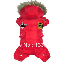 New design dog clothes pet clothing Red USA AIR FORCE winter dog coat warm for Chihuahua Yorkshire Pitbull Poodle dogs cats