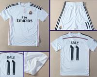 2014 Best Thailand Quality Real Madrid short  Sleeve 13-14 Jersey Home 7Ronaldo Isco Ozil kaka Modric Soccer jersey