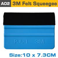 Car Vinyl Film wrapping tools 3M soft flexible squeegee Scraper with felt size 10cm*7cm 500pcs Fedex free shipping