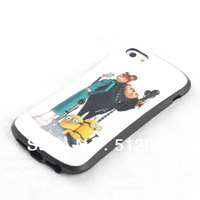 2013 New arrival Despicable Me minions case for iphone 5S, small pretty waist design 10 pcs/lot
